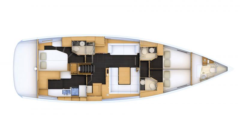 Jeanneau 54 │ Jeanneau Yachts de 16m │ Bateaux Voiliers Jeanneau  16471