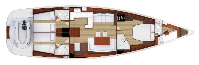 Jeanneau 58 | 3 cabins, 3 salles d'eau,  Cabine skipper