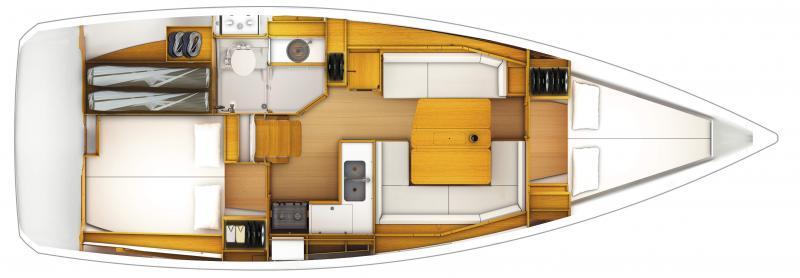 Sun Odyssey 389 │ Sun Odyssey de 12m │ Bateaux Voiliers Jeanneau  12873
