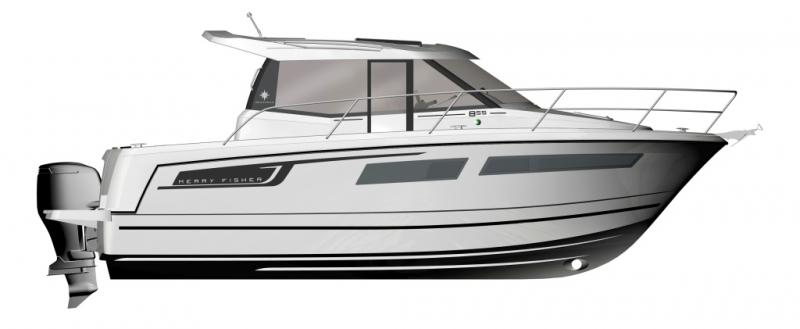 Merry Fisher 855 │ Merry Fisher of 9m │ Boat powerboat Jeanneau boat plans 212