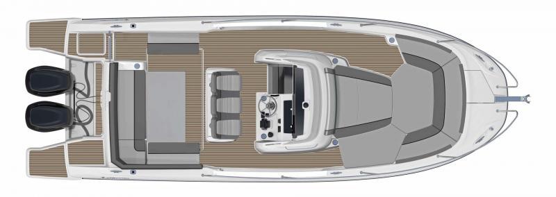 Cap Camarat 9.0 CC │ Cap Camarat Center Console of 9m │ Boat Outboard Jeanneau  11162