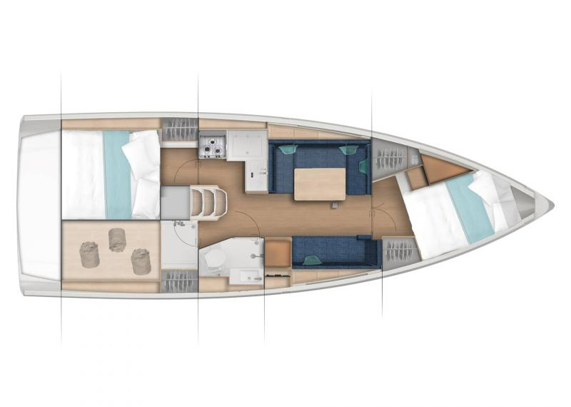 Sun Odyssey 380 │ Sun Odyssey of 11m │ Boat Sailboat Jeanneau  22995