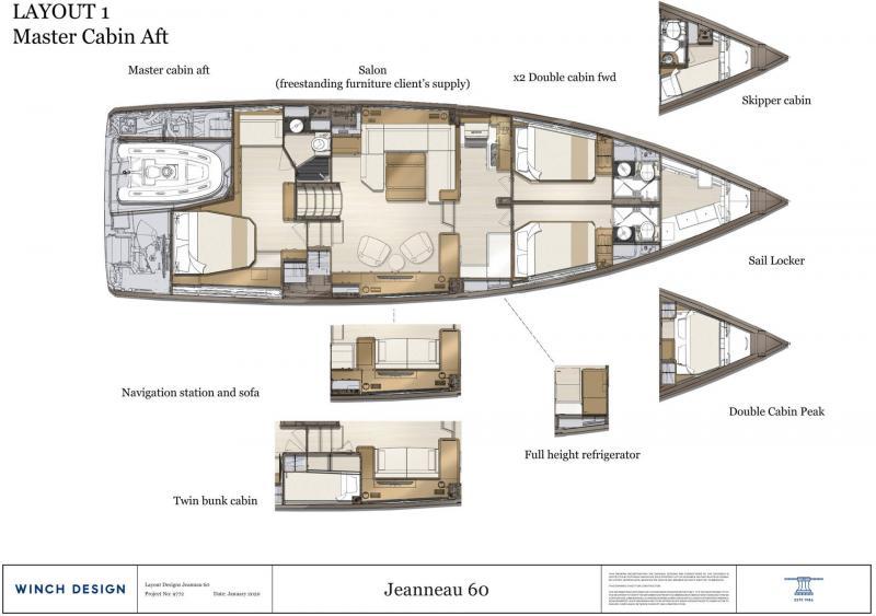 Jeanneau Yachts 60 │ Jeanneau Yachts de 18m │ Bateaux Voiliers Jeanneau  20840