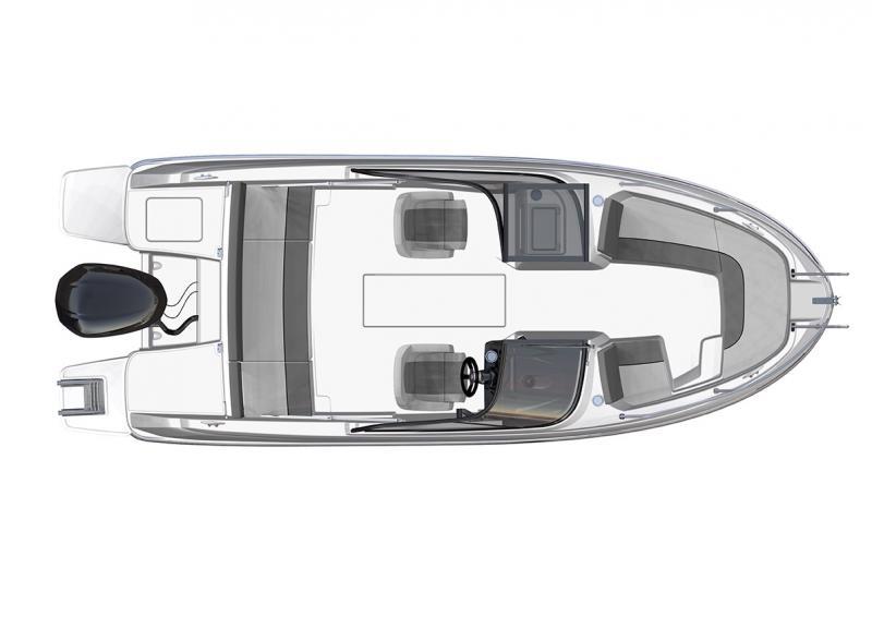 CAP CAMARAT 6.5 BR │ Cap Camarat Bow Rider of 6m │ Boat Outboard Jeanneau  3047