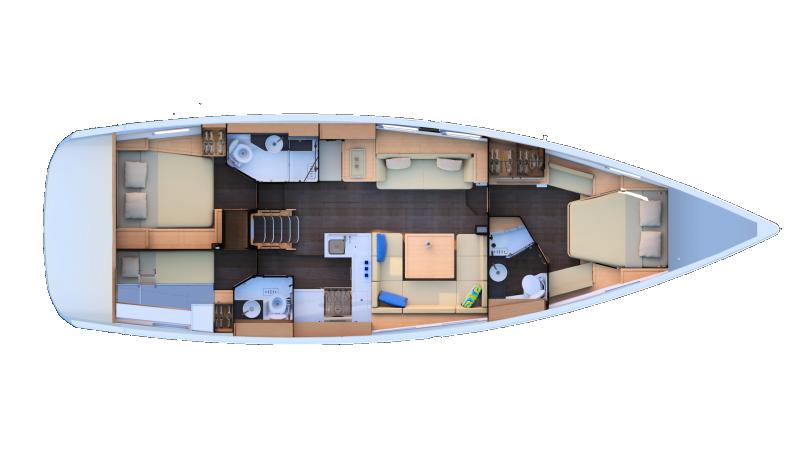 Jeanneau 51 | 2 cabins, Skipper