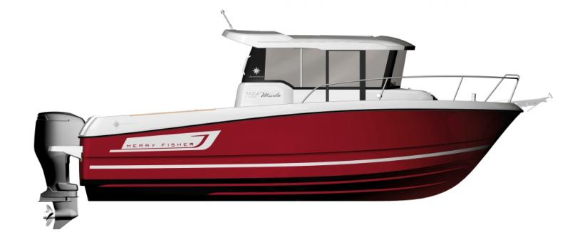 Merry Fisher 755 Marlin │ Merry Fisher Marlin of 7m │ Boat powerboat Jeanneau boat plans 227