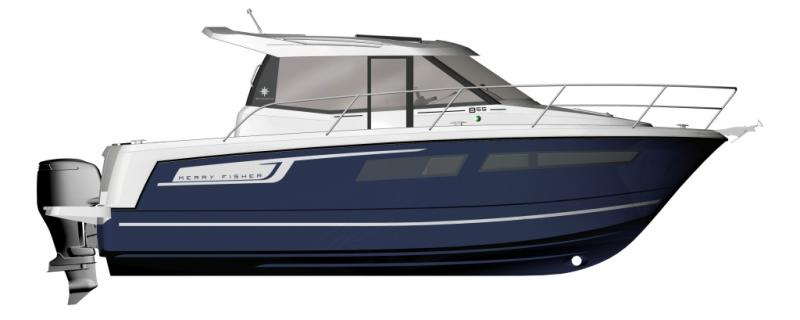 Merry Fisher 855 │ Merry Fisher of 9m │ Boat powerboat Jeanneau boat plans 226