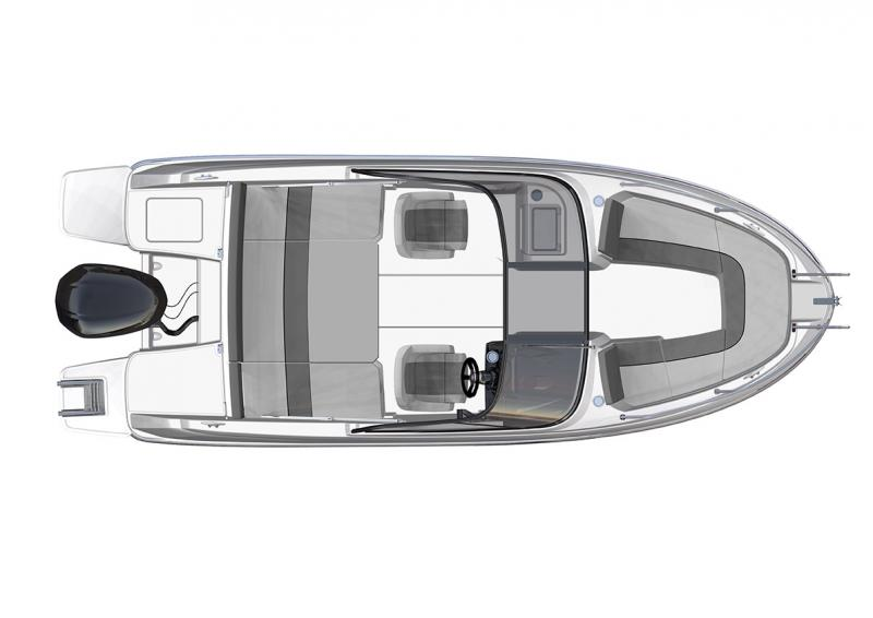 CAP CAMARAT 6.5 BR │ Cap Camarat Bow Rider of 6m │ Boat Outboard Jeanneau  3051