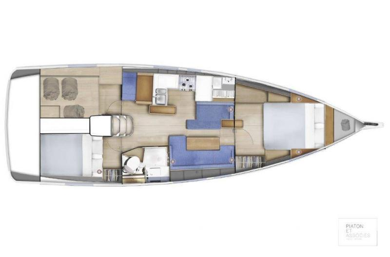Sun Odyssey 410 │ Sun Odyssey Walk-Around of 12m │ Boat Sailboat Jeanneau Swing Keel 2020 version 19346