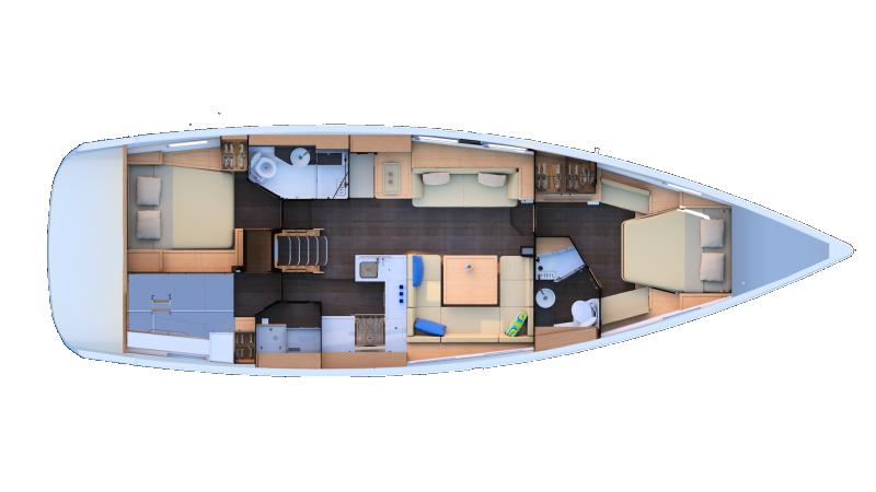 Jeanneau 51 | 2 cabins, Workshop