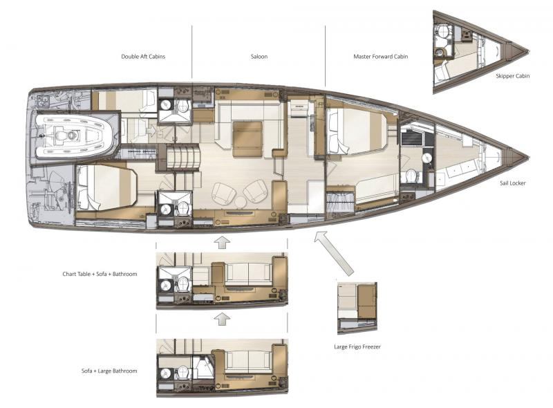 Jeanneau Yachts 60 │ Jeanneau Yachts of 18m │ Boat Barche a vela Jeanneau  22488
