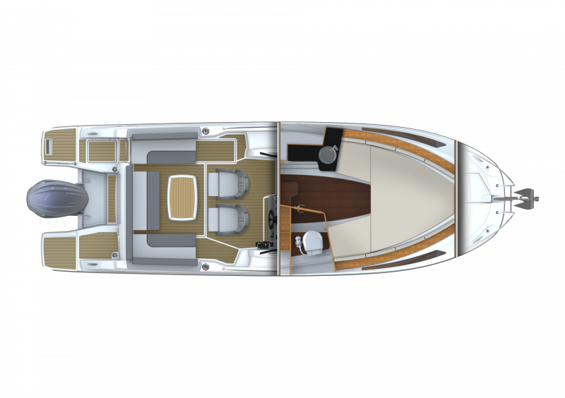 Cap Camarat 7.5 WA Série3 │ Cap Camarat Walk Around of 7m │ Boat powerboat Jeanneau  23146