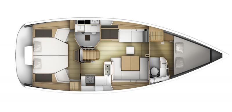 Sun Odyssey 41 DS │ Sun Odyssey DS of 12m │ Boat Sailboat Jeanneau boat plans 282