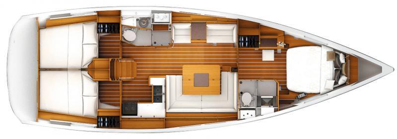 Sun Odyssey 449 │ Sun Odyssey of 14m │ Boat Sailboat Jeanneau  19547