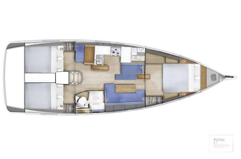 Sun Odyssey 410 │ Sun Odyssey of 12m │ Boat Sailboat Jeanneau Swing Keel 2020 version 19351